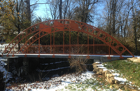 A completely accessible pedestrian bridge was recently installed in Minturn Park with Community Development Block Grant funding.